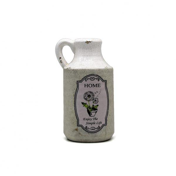Vaso de cerâmica com alça HOME